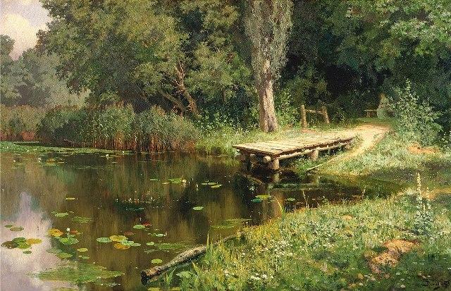 Василий поленов заросший пруд 1879г.